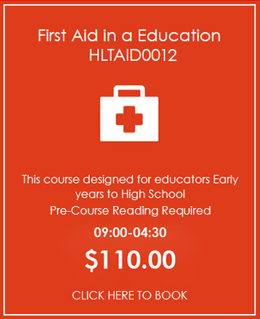 Provide First Aid in Education HLTAID004